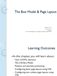 100 Two In A Box Model The Page Layout Cascading Style Sheets Html