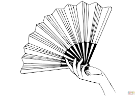 Click The Hand Fan Coloring Pages To View Printable Version Or Color It Online Compatible With IPad And Android Tablets