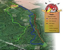 Vulture s Knob Downhill Trail Map