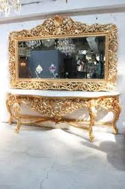 riesige casa padrino barock spiegelkonsole gold mit weißer marmorplatte luxus wohnzimmer möbel konsole mit spiegel barockgroßhandel de