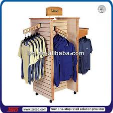 Tsd W1309 Fashion 4 Way Clothing Display Rack Shop Furniture Garment Clothes Stand For