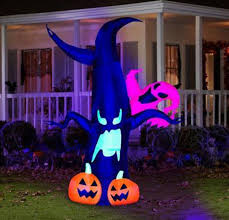 Halloween Blow Up Decorations For The Yard by Halloween Decoration Yard Inflatable Airblown Neon Tree Wghost