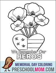 Memorial Day Coloring Page Card