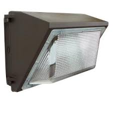 falcon 100 watt bronze outdoor integrated led wall pack light with