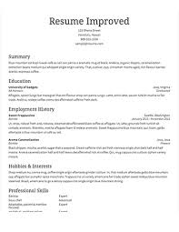 Select Template A Sample Of Improved Traditional Resume