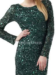 sequin short mini natural long sleeve green sequined homecoming