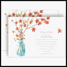 Autumn Wedding Invitations Unique Fall By Dawn