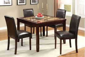 Cheap Dinner Table Set Brown Faux Marble Top Pack Dining Room Tables New Trends Glass For 2 Small