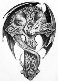 Nice Celtic Cross Tattoo Design On Paper