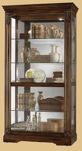 Curved Glass Curio Cabinet by Curio Cabinet Archaicawful Howard Miller Photo Locked Display