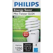 philips energy saver t2 gu24 cfl light bulb 454207 malone lumber