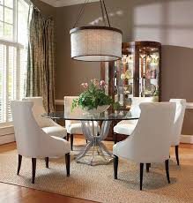 dining room stunning glass and wood dining table and chairs round