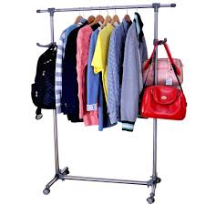 Decorative Metal Garment Rack by Rolling Clothes Rack Intermetro Clothes Rack With Cotton Canvas