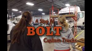A STOP AT BOLT CUSTOM TRUCKS | 11/14/16 To 11/16/16 | Expediter Team ... Custom Truck Accsories Reno Carson City Sacramento Folsom Hendrick Customs Rick Chevrolet Naples Fl Dealership Rocky Ridge Trucks Bortz Waynesburg Firstever Expediter Of The Year Award Delivered At Industry Expo Flatbeds Pickup Highway Products 1986 Chevy C10 Truckin Magazine Pin By Lasting Memories On Landscape Pinterest Lawn American Luxury Suvs Lifted Z92 Sctshotrods Made Ifs Chassis Components For Any Make 1967 Stepside 454400 12 Bolt Posi Ps Customize Your In Kenner La Serving Metairie Louisiana 2015 Freightliner M2 112 Bolt Sleeper Tour Youtube
