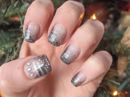 deco ongle gel noel ongles en gel pour nouvel an
