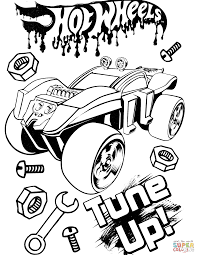 Click The Hot Wheels Tune Up Coloring Pages