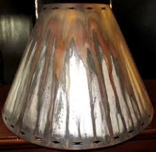 Punched Tin Lamp Shades Uk by Metal Lamp Shades Made Of Steel In Custom Sizes Shapes And