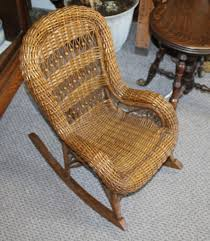 Bargain John's Antiques | Antique Wicker Child's Rocking ...