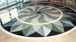 Mosaic Or Marble Chip Flooring
