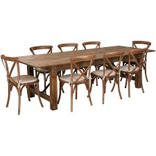 Flash Furniture HERCULES Series 9' X 40'' Antique Rustic Folding Farm Table  Set With 8 Cross Back Chairs And Cushions Timelessly Charming Farmhouse Style Fniture For Your Home Interior Rustic Round Ding Table 6 Ideas 30 House X30 Inch Modern Farm Wood You Kitchen Extraordinary Narrow Room Black Chairs Photos And Pillow Weirdmongercom Hercules Series 8 X 40 Antique Folding Four Bench Set Luxury Affordable Grosvenor Wooden With Gray White Wash Top Classic Base Criss Cross Includes Two Benches E Braun Tables Inc Back Burlap Cushions Amish Sets Etc