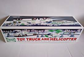 100 2006 Hess Truck Nib Toy And Helicopter Brand New In Box For Sale