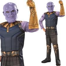 Kids Thanos Costume Fancy Dress Villain Marvel Infinity Official