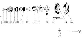 PEERLESS BATH VALVES Parts Model 8737