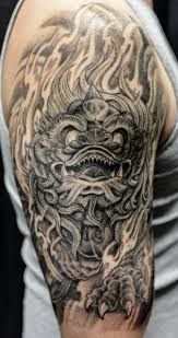 Asian Tattoo Design With Color Ink