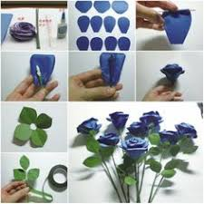 Blue Step By Handmade Flowers From Paper