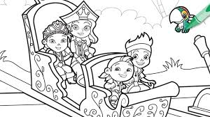 Princess Power Coloring Page