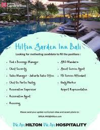 100 Bali Hilton Garden Inn Recruitment