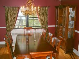 Drapes On Decorative Hardware For Dining Room Window In Long Island
