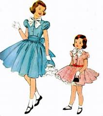 Vintage 50s Mccalls 9776 Girls PARTY Dress With Petticoat Sewing Pattern Size 4