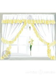 White Kitchen Curtains With Black Trim by Yellow And White Check Kitchen Curtains With Black Trim Small
