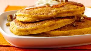 Pumpkin Pancakes W Bisquick by Pumpkin Pie Pancakes Bettycrocker Com