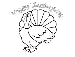 Happy Thanksgiving Coloring Pages Children