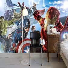 chambre marvel garçons chambre photo papier peint personnalisé peintures