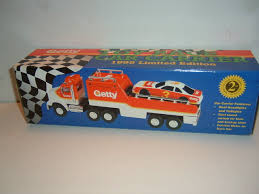 GETTY Toy Truck RACE CAR CARRIER 1995 #2 LE NEW - DECADESGONEB4 Boystransporter Car Carrier Truck Toy With Sounds By C Wood Plans Youtube Transporter Includes 6 Metal Cars 28 Amazoncom Transport Truckdiecast Car For Kids Prtex 60cm Detachable With Buy Mega Race Online In Dubai Uae Toys Boys And Girls Age 3 10 2sided Semi And Wvol Affluent Town 164 Diecast Scania End 21120 1025 Am W 18 Slots Best Choice Products Truck60cm Length Toydiecast