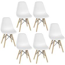 bathrins 6er set esszimmerstühle modernes design skandinavischer stil lia mcc weiß