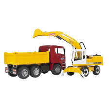 Bruder Toys 2751 - MAN TGA Construction Truck And Liebherr Excavator Bruder Mack Granite Tip Up Truck Lazada Malaysia Toys 2751 Man Tga Cstruction And Liebherr Excavator Kavanaghs Bruder Tanker Truck 116 Scale Rc Truck Total Crash Youtube Mack Half Pipe Dump Jadrem Australia Amazoncom With Snow Plow Blade Kids Toy Model Replica Halfpipe Digger Tosyencom 2815 By Fundamentally The Mb Arocs From The Collection Garbage Toyworld