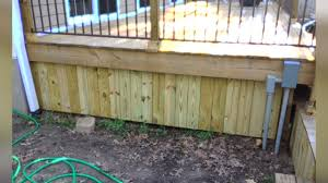 Metal Deck Skirting Ideas by Finishing Touches Deck Skirting Youtube
