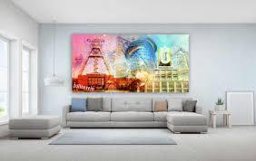 acrylglasbilder ruhrgebiet als bunte panorama pop collage