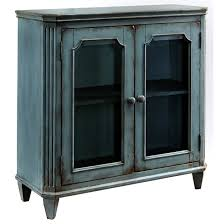 French Provincial Accent Chair by French Provincial Style Glass Door Accent Cabinet In Antique Teal