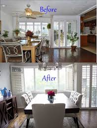 Living Room Makeovers Before And After Pictures by Dining Room Makeover 1000 Ideas About Room Makeovers On Pinterest