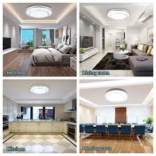 WLITE 48W Dimmable Led Flush Mount Ceiling Light Lighting With Remote20 Inch Close To Ceiling Lights Fixture For BedroomLiving RoomDining Room