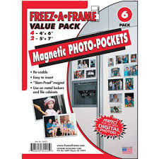 Amazoncom Clear Magnetic Photo Frame Pockets FreezAFrame For
