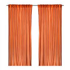 ikea vivan curtains drapes dark orange 2 panels