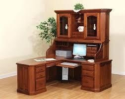 Modern Computer Desk L Shaped by Corner Desk Wood Corner Desk Small Oak Computer Desk In Brown