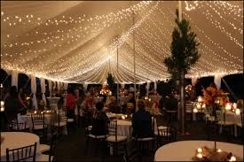 Tent Wedding Reception With Lights By Livingthegoodlife
