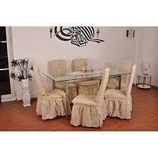 6er pack elastische stuhlbezüge stuhlhussen in naturell natur bi elastic husse stuhlbezug stuhlhusse stretch stuhlüberzug stuhl
